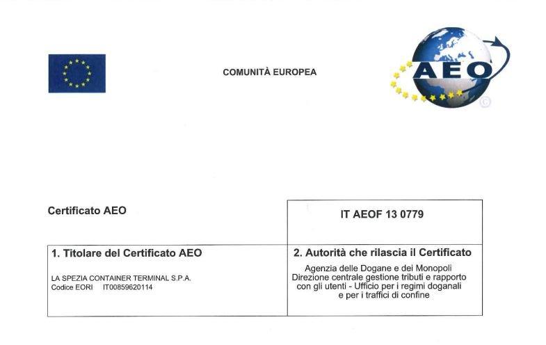 LSCT Certificato AEO