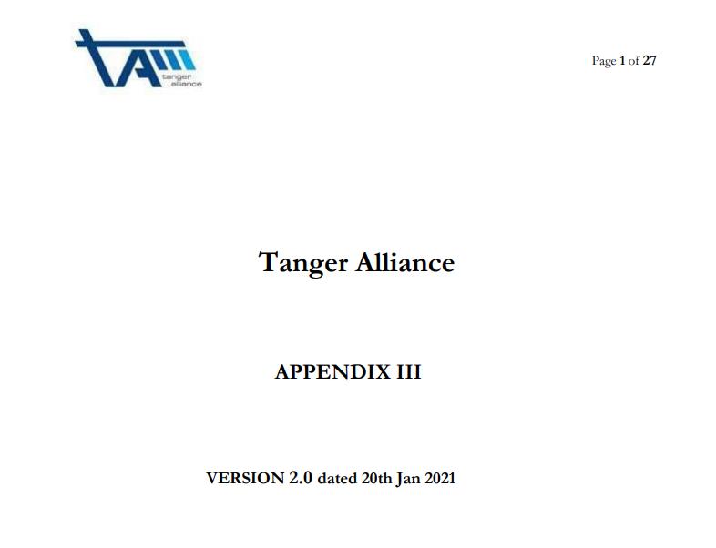 TA Appendix III - Operational Manual