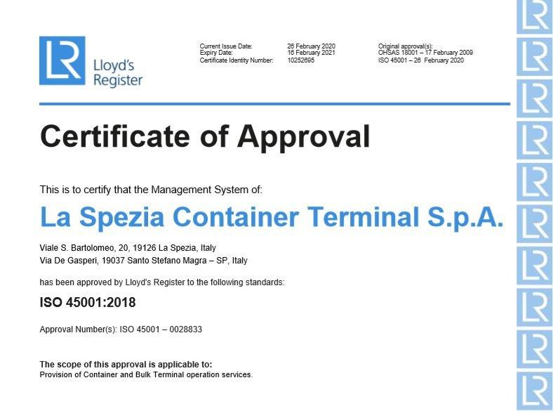 LSCT ISO 45001:2018