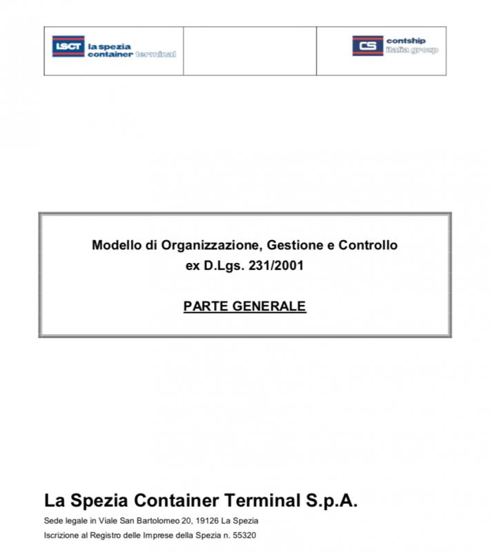 Modello di Organizzazione, Gestione e Controllo LSCT