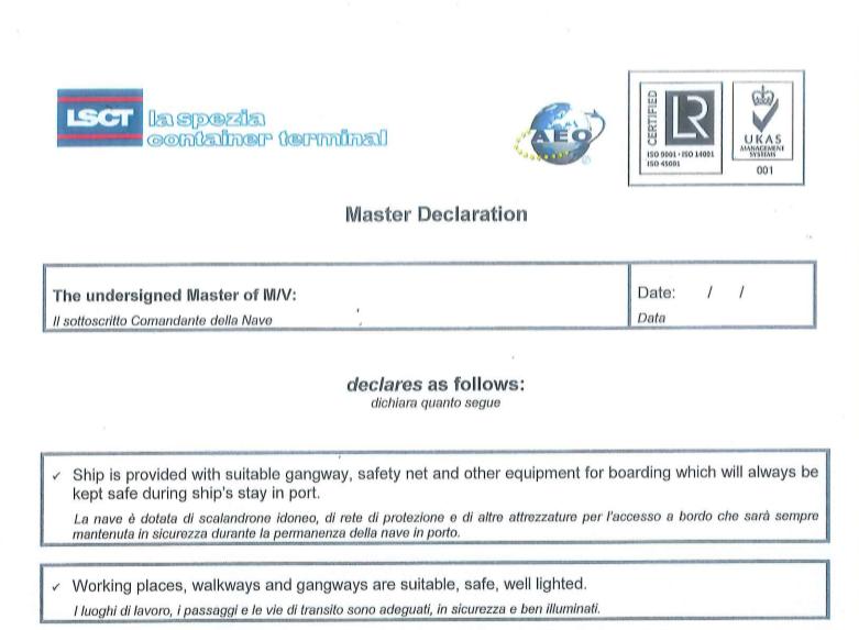 LSCT Master Declaration