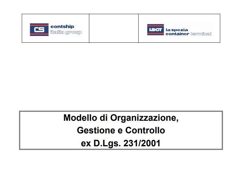 LSCT Modello Organizzativo Terminal - Parte Generale