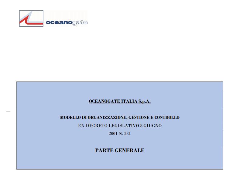Modello di Organizzazione, Gestione e Controllo (ITA)