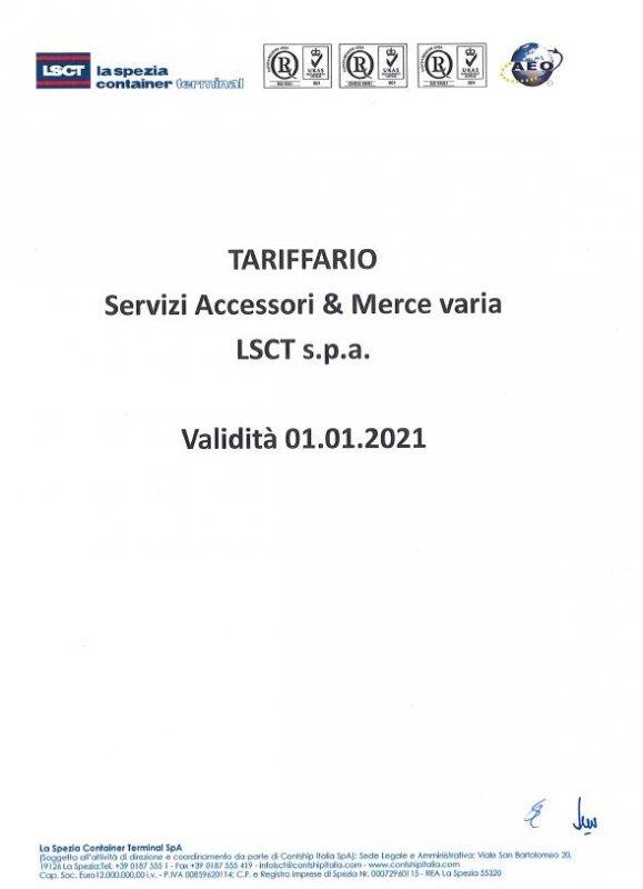 LSCT Listino Servizi Accessori