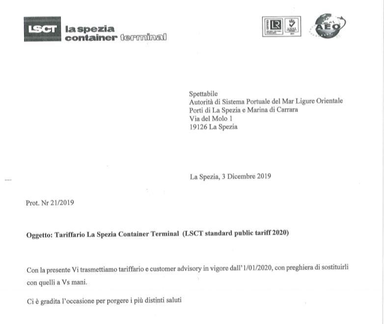 LSCT Public Standard Tariff 2020