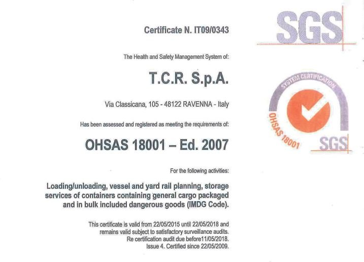 TCR OHSAS 18001:2007 ENG