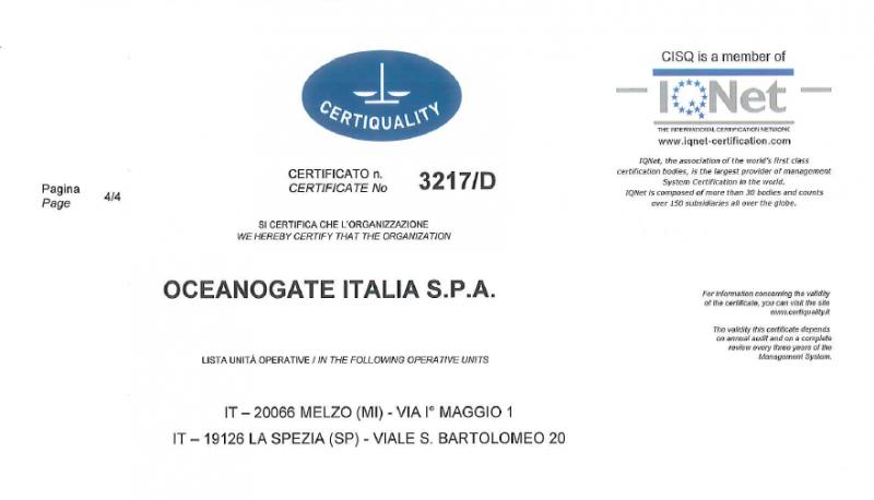 Oceanogate ISO 9001:2015