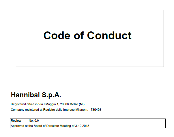 Hannibal Code of Conduct