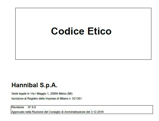 Codice Etico Hannibal