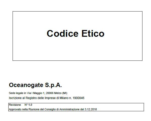 Codice Etico Oceanogate Italia