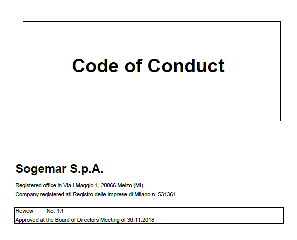 Sogemar Code of Conduct