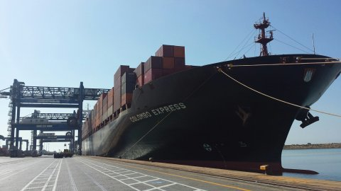 M/V Colombo Express berthed at CICT