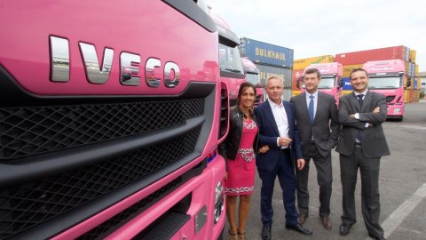 Delivery of Iveco trucks at Rail Hub Milano
