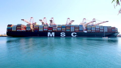 the ultra large container ship, MSC Erica