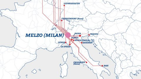 Hannibal rail sevice map