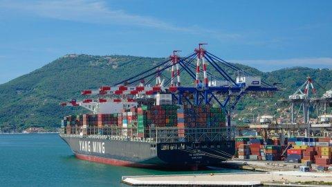 A ship in La Spezia Container Terminal