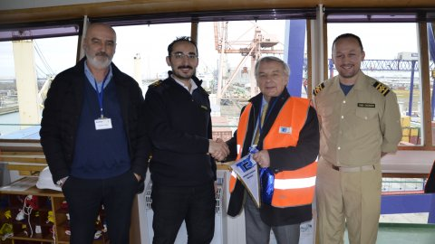 Arkas Line First Call in Contship Terminal Ravenna