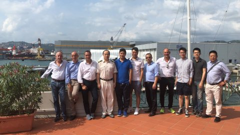 Chinese Journalists visiting La Spezia Container Terminal