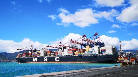 MSC Trieste berthed at Contship La Spezia Container Terminal