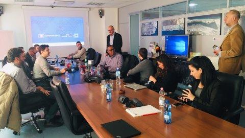 Gemos students visiting Contship Rail Hub Milano