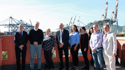 Lindt and Lamprecht visit Contship La Spezia Container Terminal