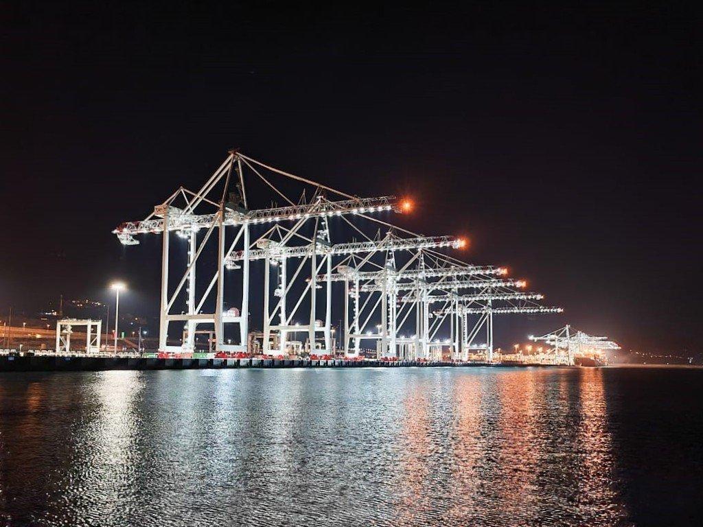 Tanger Alliance Terminal at night