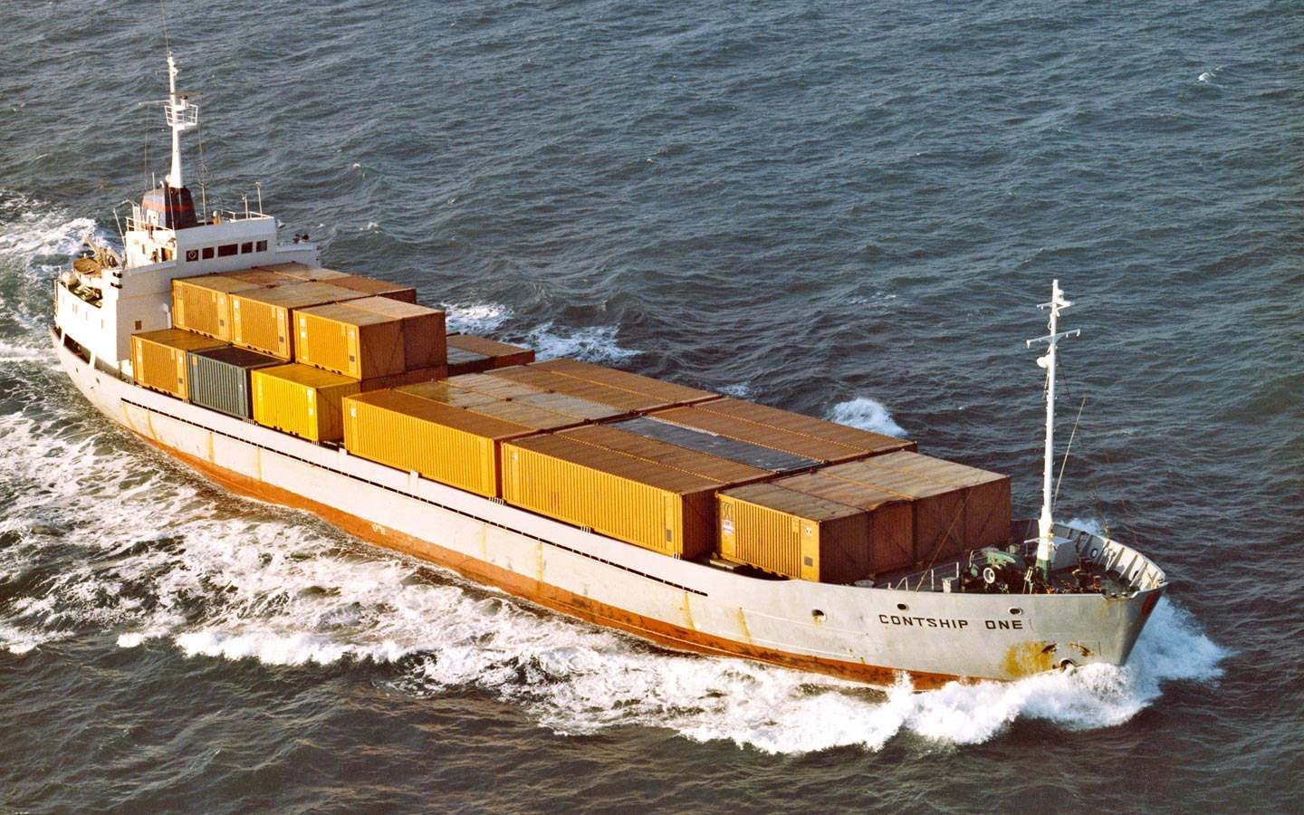 The Contship One, one of the first container carriers used by Contship